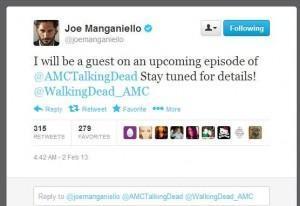 Joe Manganiello star of HBO's True Blood speaks on Twitter