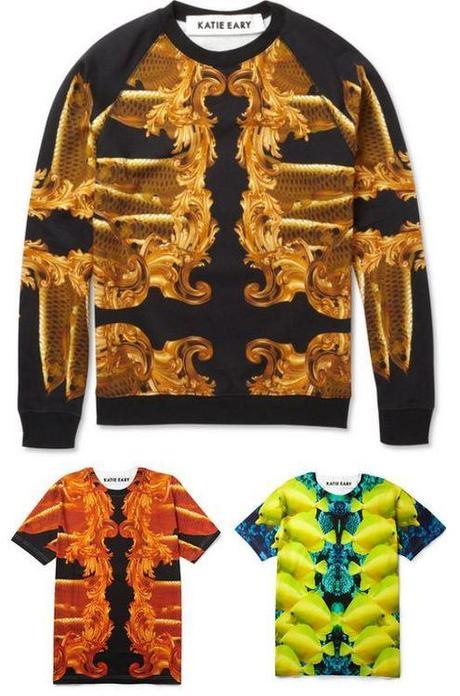 Katie Eary Baroque-Print Cotton-Jersey Sweatshirt ($375) Katie...