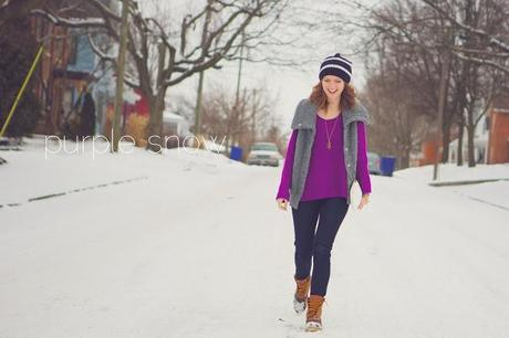 outfit: purple snow