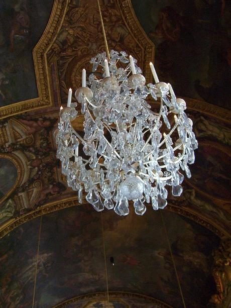 Hall of Mirrors - silver chandelier - Palace of Versailles - France