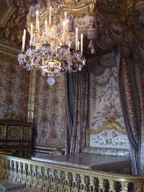 Queen Marie-Antoinette's Bedchamber at Versailles - France