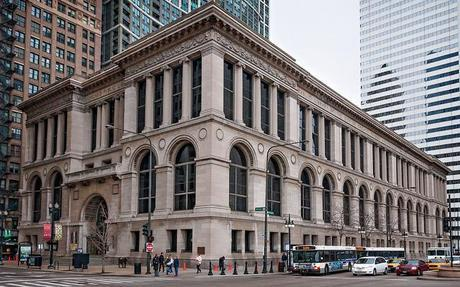 Chicago Public Library (1897), 3/4 view, 78 E Washington St, The Loop, Chicago, IL, USA