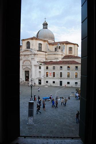 Hotel Window out to Campo San Geremia