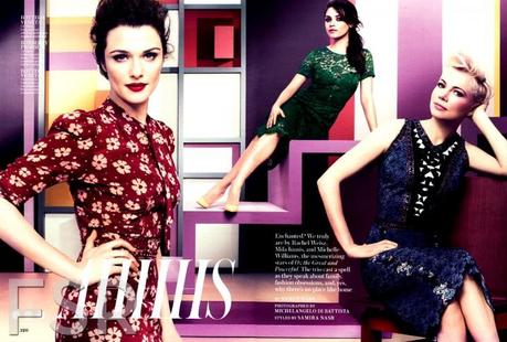 Rachel Weisz, Michelle Williams and Mila Kunis for InStyle US by Michelangelo Di Battista   2