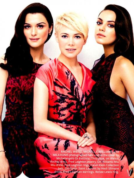 Rachel Weisz, Michelle Williams and Mila Kunis for InStyle US by Michelangelo Di Battista