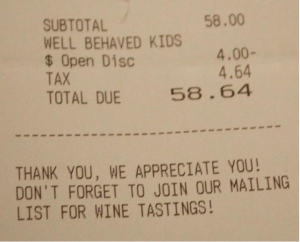 Four dollars is a major discount, actually, for these nice kids doing what my kids are expected to do for free.
