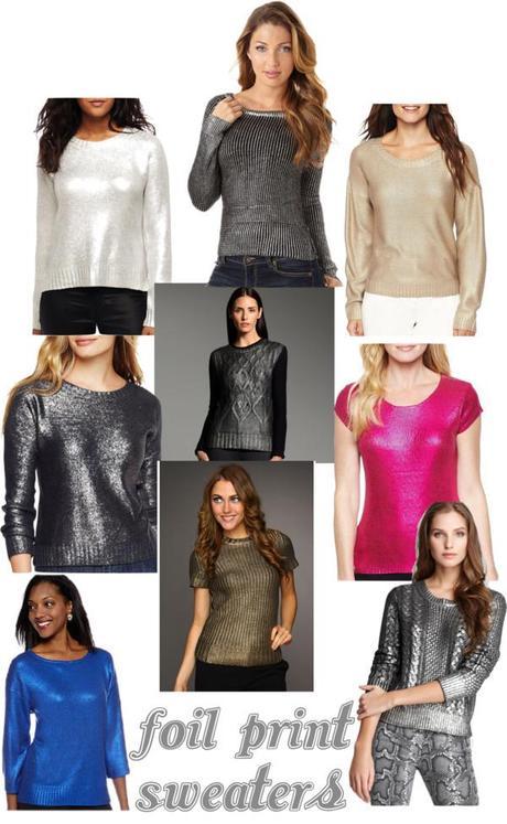 I'm Obsessed - Foil Print Sweaters