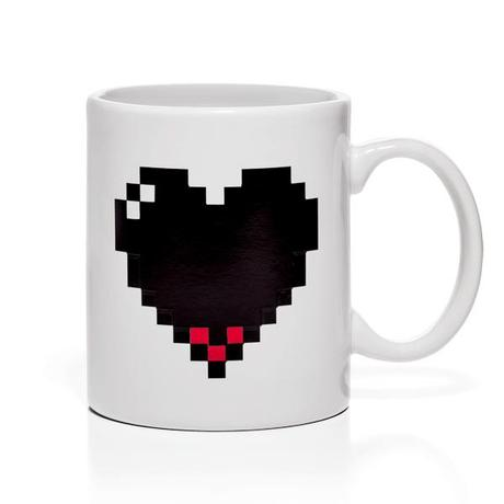 Pixel Heart Heat Changing Mug from ThinkGeek.com