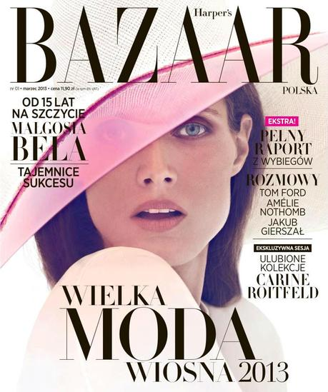 Cover- Malgosia Bela by Koray Birand for Harper's Bazaar Poland March 2013
