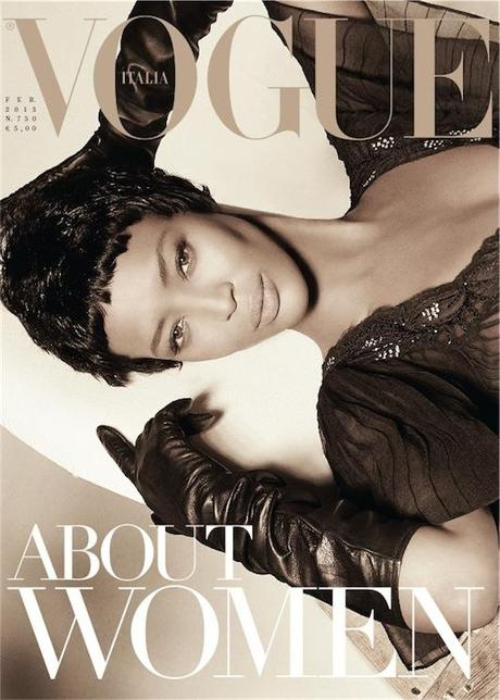 Cover- Naomi Campbell for Vogue Italia February 2013 by Steven Meisel