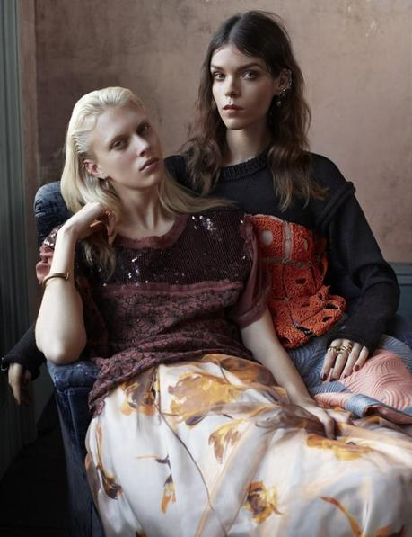 Meghan Collison and Juliana Schurig by Josh Olins Source for UK Vogue March 2013 2