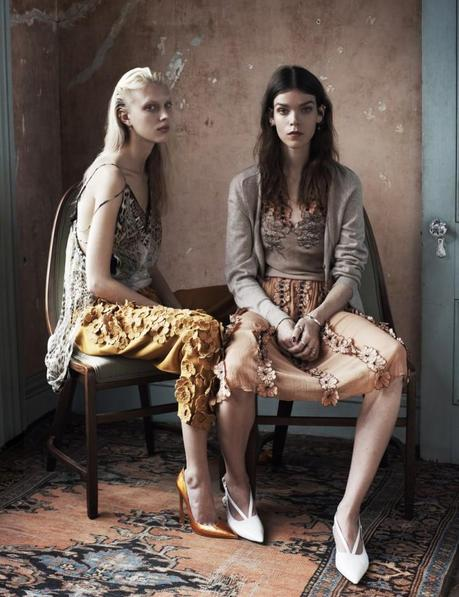 Meghan Collison and Juliana Schurig by Josh Olins Source for UK Vogue March 2013 8
