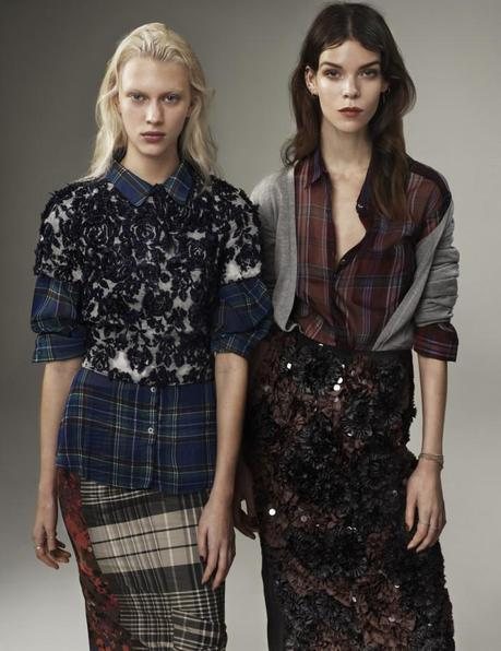 Meghan Collison and Juliana Schurig by Josh Olins Source for UK Vogue March 2013 3