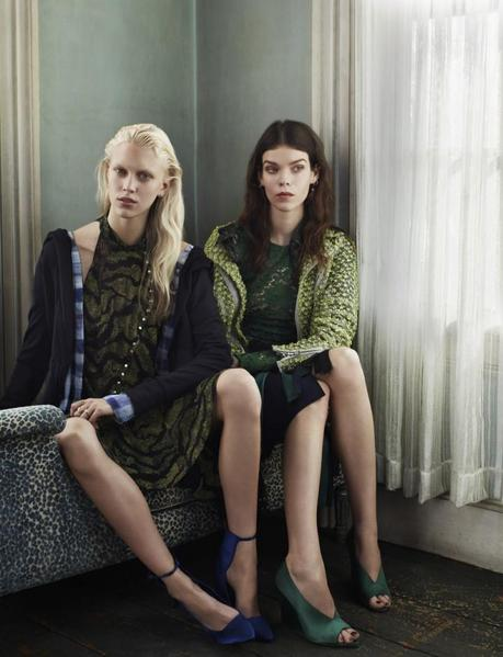 Meghan Collison and Juliana Schurig by Josh Olins Source for UK Vogue March 2013 10