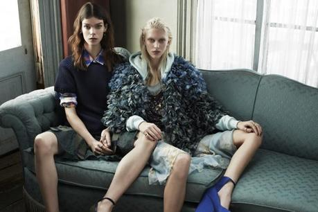 Meghan Collison and Juliana Schurig by Josh Olins Source for UK Vogue March 2013 9