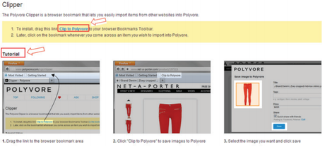 Polyvore Guide for Brands & Retailers: The Clipper Tool