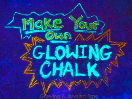 Make your own glowing chalk 00 Glow in the Dark Chalk Lights up a Sleepover