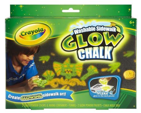 crayola glow chalk Glow in the Dark Chalk Lights up a Sleepover