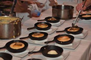 Asheville chefs plating their finished product this weekend