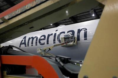 New American Airlines Livery Taking Shape at the Paint Booth