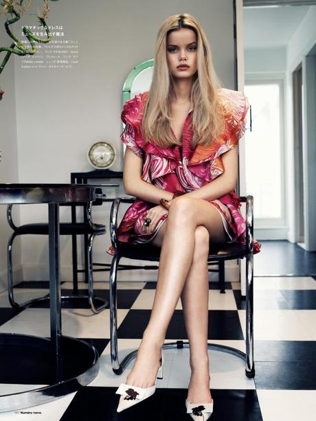Frida Aasen by Jonas Bresnan for Numéro Tokyo #64 March 2013 6