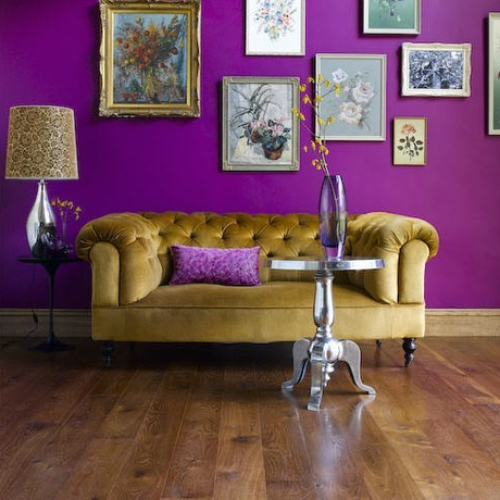 Bold Purple and Gold Room