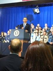 MN Law Enforcement in support of President Obama on February 4, 2013
