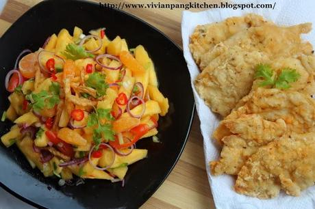 Pineapple Salad with Crispy Herbed Chicken Fillet