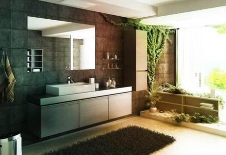 Vines on a Bathroom Wall