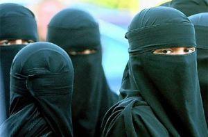 Women must wear a burka in public in Saudi Arabia.