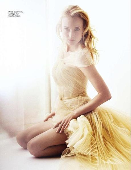 Diane Kruger by Simon Emmett for Glamour UK March 2013