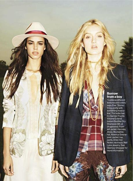 Hind Sahli and Melissa Johannsen by Frederike Helwig for Glamour US March 2013 4