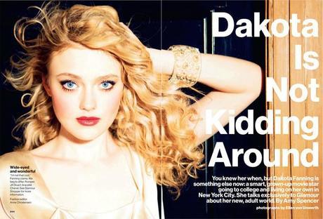 Dakota Fanning by Ellen Von Unwerth for Glamour US March 2013