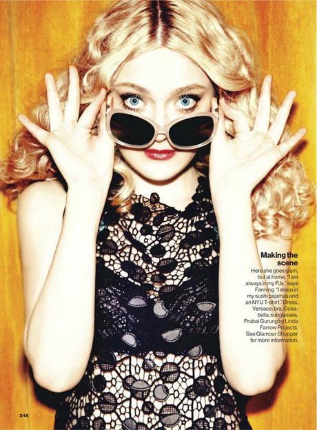Dakota Fanning by Ellen Von Unwerth for Glamour US March 2013 3