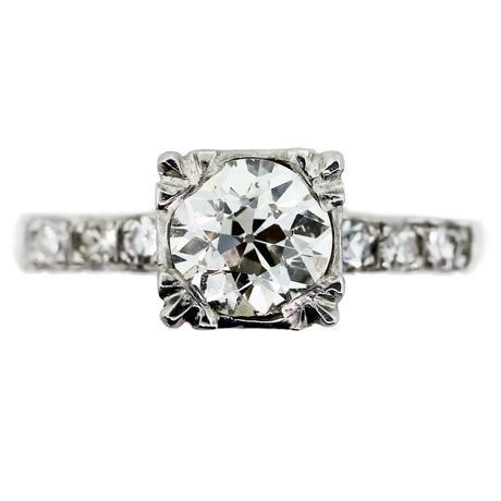 Antique 1ct Old European Cut Diamond, 1 carat engagement ring, antique engagement ring