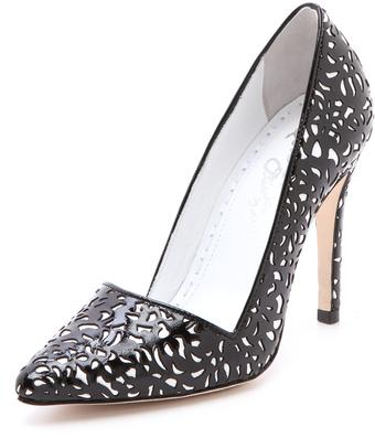 Shoe of the Day | Alice + Olivia Dina Patent Leather Cutout Pump
