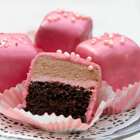 Chocolate Pomegranate Petit Fours