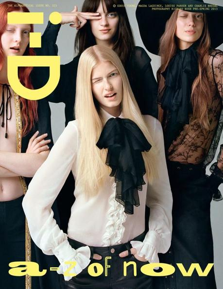 Cara Delevigne,Codie Young, Charlie Bredal, Louise Parker and Magda Laguinge by Richard Bush for the pre-spring issue of i-D Magazine7
