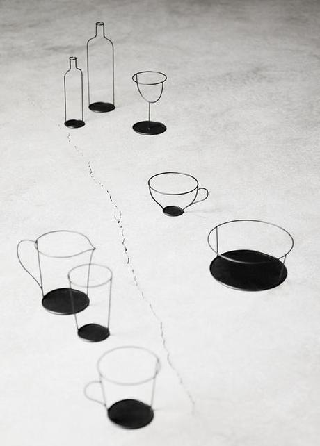 Small Black Vase by Nendo