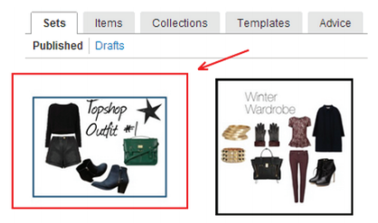 Polyvore Guide for Retailers & Brands: Deleting Sets, Templates & Collections