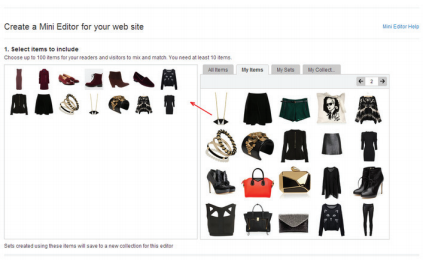 Polyvore Guide for Retailers & Brands: The Mini Editor