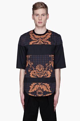 3.1 Phillip Lim Navy floral paneled oversize t-shirt ($295)...