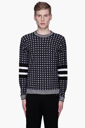 3.1 Phillip Lim Black and white merino wool sweater ($425) and...