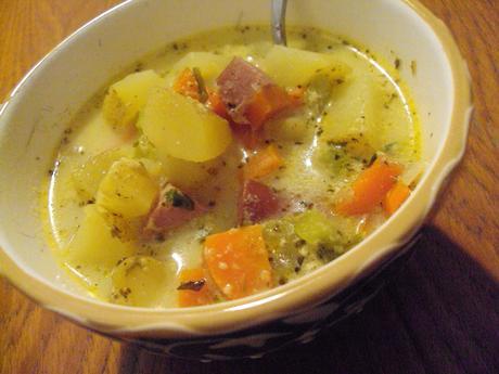 chipotle and kielbasa soup 017