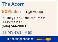 The Acorn on Urbanspoon