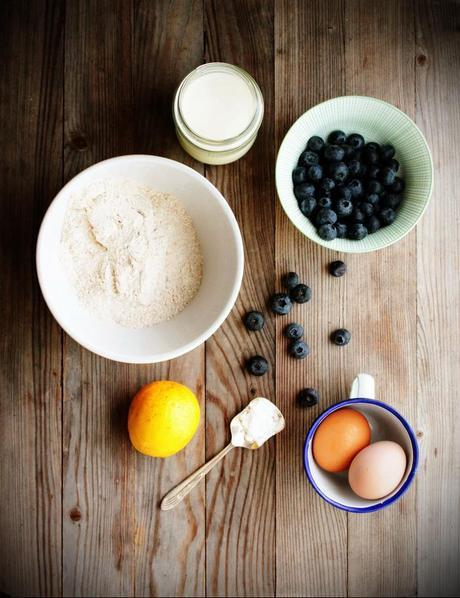 Blueberry, orange, muffins, recipe, wholewheat, fragrant, baking, lazy, weekend