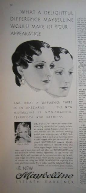 1933 BEFORE AND AFTER Maybelline ad