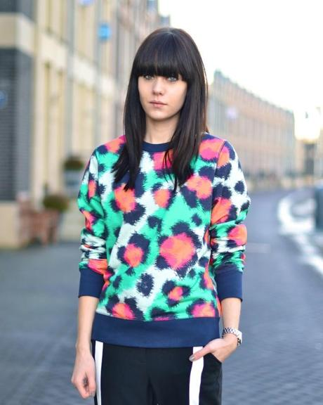outfit kenzo bright leopard sweater colors