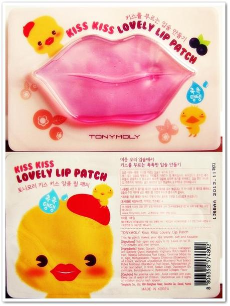 TonyMoly Kiss Kiss Lovely Lip Patch Review