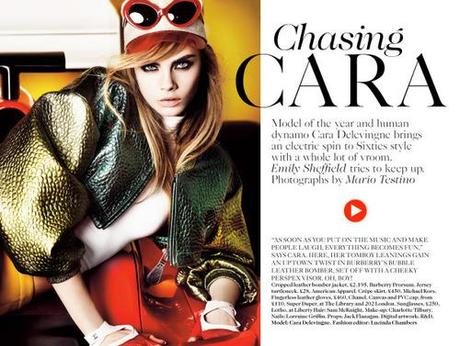 Cara Delevingne for Vogue UK March 2013 in Chasing...
